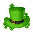 saint patricks day leprechaun hat vector image vector image