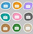 Sale symbols Multicolored paper stickers vector image