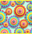 seamless pattern 3d colorful flower chrysanthemum vector image vector image