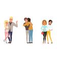 set different families happy homosexual vector image