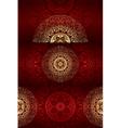 Set of vintage floral backgrounds vector image vector image