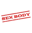 Sex Body Watermark Stamp vector image vector image