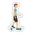skate board extreme sport vector image
