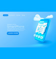 smartphone login app banner concept place for vector image