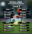 soccer team group set nations league vector image vector image