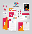 Social Relationship Corporate Identity Poster vector image
