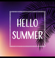 summer tropical backgrounds set with palms and vector image vector image
