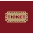 The ticket icon Ticket symbol Flat vector image vector image