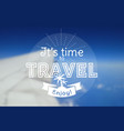 travel card blurred background vector image vector image