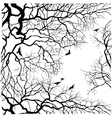 Under the tree sky view vector image