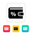 Wallet with percentage icon vector image vector image