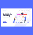 web design flat modern template - social media vector image