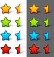 whole and half rating stars with shadow vector image vector image