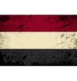 Yemeni flag Grunge background vector image vector image