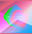 holographic shape background neon cover design vector image
