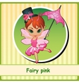 Cute Fairy girl in pink dress vector image