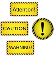 Warning attention caution vector image