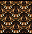 3d ornate gold damask seamless pattern vector image vector image