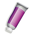A topview of a violet tube vector image vector image