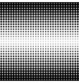 abstract halftone seamless border vector image