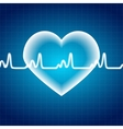 Abstract Heart Pulse Medical Background vector image