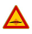 Aim at slugs warning sign vector image vector image