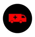 ambulance sign red icon vector image vector image