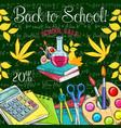 back to school sale promo sketch poster vector image vector image