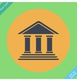 Bank building - Flat design vector image