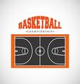 basketball league design vector image vector image