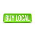 buy local green 3d realistic square isolated vector image vector image