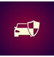 car shield icon Flat vector image vector image