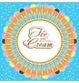 Card with ice-cream vector image vector image