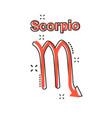 cartoon scorpio zodiac icon in comic style vector image