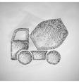 Cement Mixer icon vector image vector image
