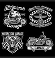 Chopper motorcycle black white set