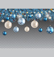 christmas background with fir and balls vector image vector image
