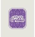 Christmas vintage frame icon