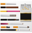 cigarette cigar with nicotine in cigarette vector image