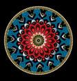 colorful ornamental vintage greek mandala pattern vector image vector image