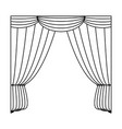 curtains icon image vector image