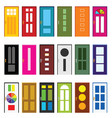 door entrance set in various poses design vector image