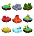 fantastic islands for game design set desert vector image vector image