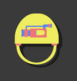 flat icon design collection helmet with video cam vector image vector image