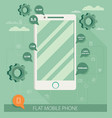 flat phone vector image