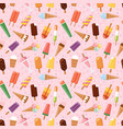 fruit ice cream seamless pattern background vector image vector image