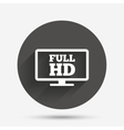 Full hd widescreen tv High-definition symbol vector image vector image