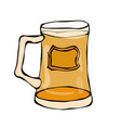 glass of beer doodle style isolated on white vector image vector image