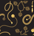gold chain belt pattern fashion design vector image
