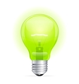 green light bulb isolated on white vector image vector image